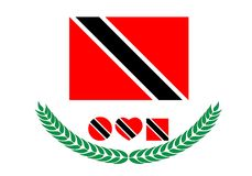 Trinidad- and Tobagoflaggenvektorillustration Trinidad-und-tobag Lizenzfreie Stockbilder