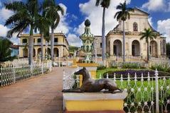 Trinidad town, cuba. A view of plaza mayor in Trinidad, cuba Stock Images