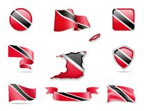 Trinidad und Tobago kennzeichnet Sammlung Stock Abbildung