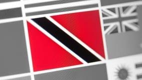 Trinidad und Tobago-Staatsflagge des Landes Flagge auf der Anzeige, ein digitaler Wässerungseffekt stockfotos