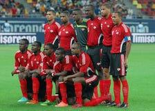Trinidada y equipo de fútbol del nacional de Trinidad y Tobago Imagen de archivo libre de regalías