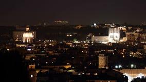 Trinità dei Monti. Night overview in Rome , Italy stock footage