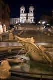 Trinità dei Monti och Piazza di Spagna. Royaltyfri Foto