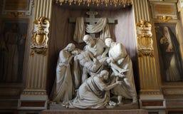 Trinità dei Monti. In Piazza di Spagna in Rome, Italy stock images
