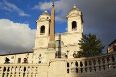 Trinità dei Monti. In Piazza di Spagna in Rome, Italy royalty free stock photography