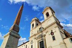 Trinità dei Monti. In Piazza di Spagna in Rome, Italy stock photos