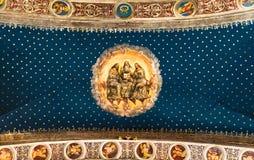 Trinità santa dipinta sul soffitto di cattedrale principale Fotografie Stock Libere da Diritti