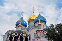 Trinità Sergius Lavra in Russia Chiesa di Dormition Fotografia Stock Libera da Diritti