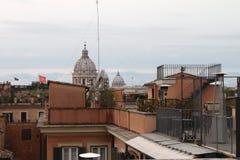 从Trinità deiMonti -罗马,意大利的屋顶 免版税库存图片