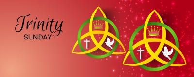 Trinité dimanche illustration de vecteur