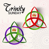 Trinité dimanche illustration stock
