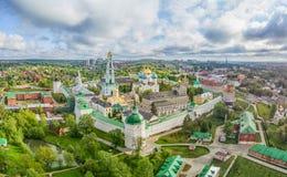 Trinité Lavra de St Sergius - vue aérienne photographie stock libre de droits