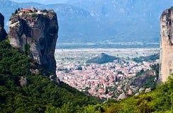 Trinité sacrée de monastère, Meteora, Grèce images libres de droits