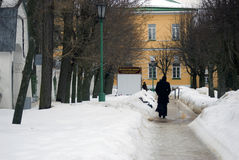 Trinité Sergius Lavra Portes d'entrée à la maison vivante de ` de moines Photos stock