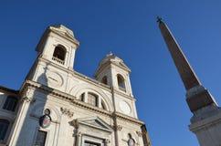 Trinità dei Monti , Rome Royalty Free Stock Images