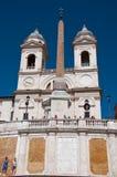 Trinità Dei Monti Seen From Piazza Di Spagna. Rome, Italy. Royalty Free Stock Image