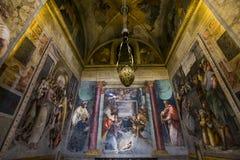 Trinita dei Monti教会,罗马,意大利 免版税库存照片