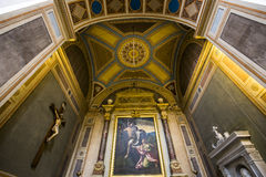 Trinita dei Monti教会,罗马,意大利 免版税图库摄影