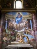 Trinita dei Monti教会,罗马,意大利 免版税库存图片