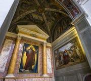 Trinita dei Monti教会,罗马,意大利 库存图片