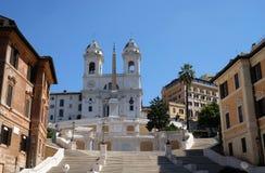 Trinita dei Monti Church, Piazza di Spagna in Rome Royalty Free Stock Photo