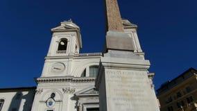 Trinita Dei Monti Church Rome stock video footage