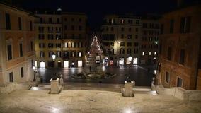 Trinita  dei Monti church, spanish steps and Spain square stock footage