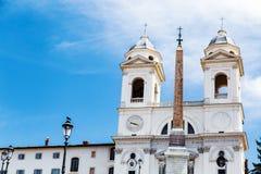 Trinita dei Monti in Piazza di Spagna Royalty Free Stock Photography