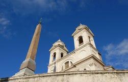 Trinita dei Monti in Rome Stock Photography
