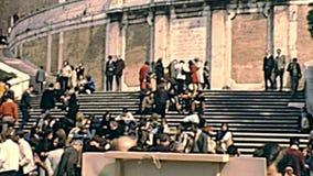 Trinita-dei Monti-Treppenhaus von Rom stock video