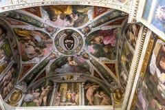 Trinita deiMonti kyrka, Rome, Italien Arkivfoto