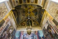 Trinita deiMonti kyrka, Rome, Italien Fotografering för Bildbyråer