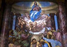 Trinita deiMonti kyrka, Rome, Italien Arkivbilder