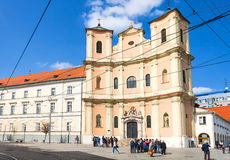Trinitarian Church at Zupne square in Bratislava Royalty Free Stock Image
