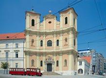 Trinitarian Kerk (1717), Bratislava, Slowakije Royalty-vrije Stock Afbeeldingen