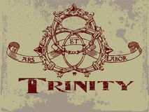 Trinity. Vintage old t shirt design Royalty Free Stock Photos