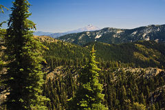 Trinity Alps and Mount Shasta Stock Photo