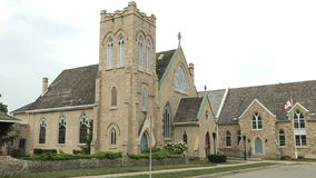 Trinity Anglican Church. One of the oldest church in Waterloo area stock video