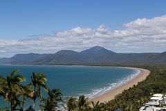 Trinity Bay lookout in Port Douglas, Queensland, Australia. View of the beach in Port Douglas from Trinity Bay lookout in Queensland, Australia stock photography
