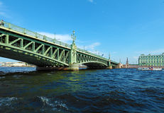 Trinity Bridge across the Neva in Saint Petersburg Royalty Free Stock Photos