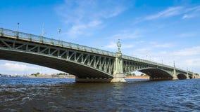 Trinity bridge across the Neva, St. Petersburg Royalty Free Stock Images
