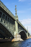 Trinity bridge across the Neva, St. Petersburg Royalty Free Stock Photo
