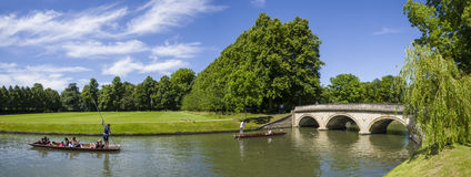 Trinity Bridge and the Backs in Cambridge Royalty Free Stock Images