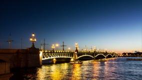 Trinity Bridge drawning  (Troitsky Most) stock video footage