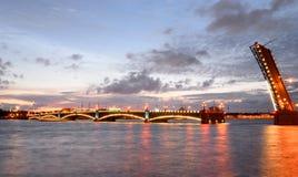 Trinity bridge at night. Royalty Free Stock Images