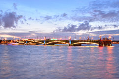 Trinity bridge at night. Stock Photos