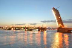 Trinity Bridge at night Stock Photography