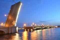 Trinity Bridge at night Stock Images
