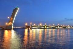Trinity Bridge at night Stock Photos
