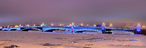 Trinity bridge in Petersburg, Russia Stock Photos